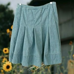 American Living Western Denim Skirt 6